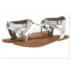 NEW BC Metallic Silver Strappy Sandals